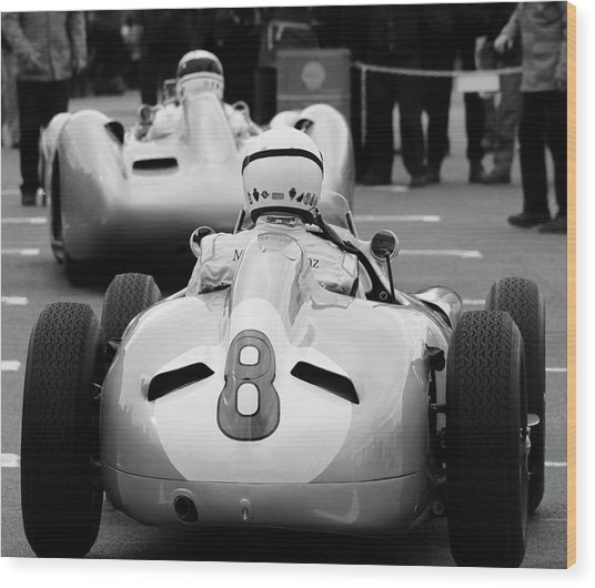 Silver Arrows Number 8 Wood Print