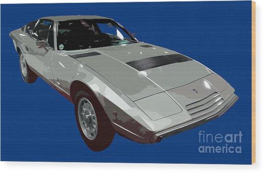 Silver Classic Sport Art Wood Print