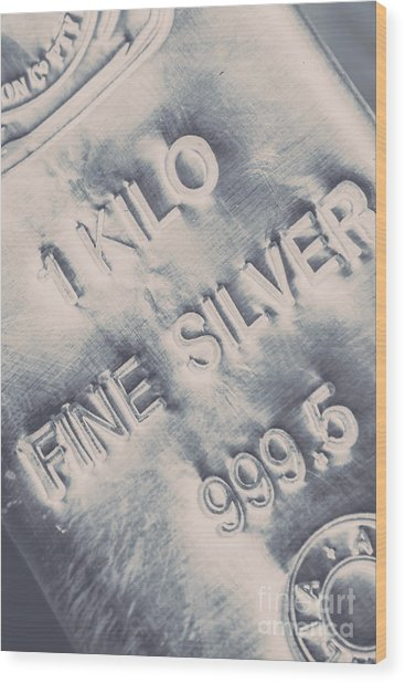 Silver Commodities Wood Print