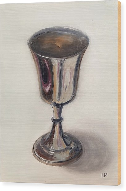 Silver Goblet Wood Print