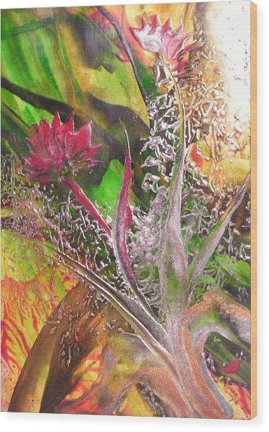 Silver Lace Wood Print by John Vandebrooke