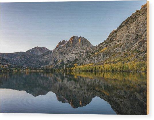 Silver Lake At Sunrise Wood Print by K Pegg