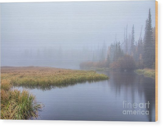 Silver Lake In The Clouds Wood Print