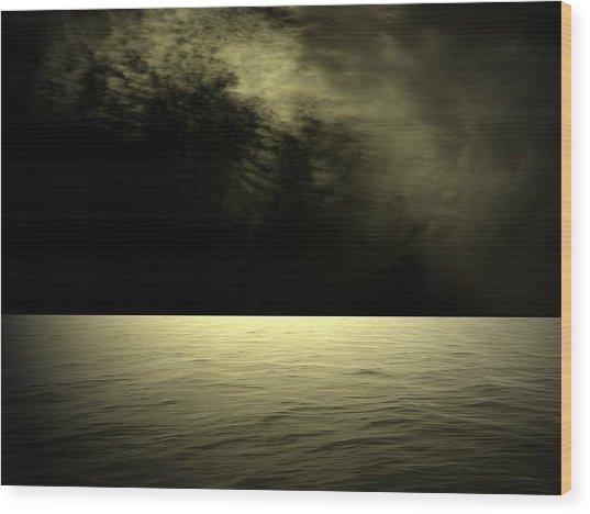 Silver Light Wood Print by Juana Maria Garcia-Domenech