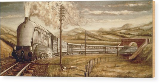 Silver Link Steam Locomotive L.n.e.r.   25o9 Wood Print by James Richardson