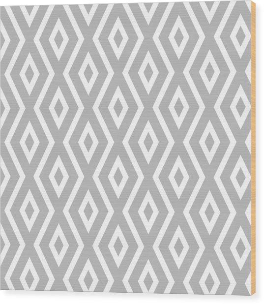Silver Pattern Wood Print
