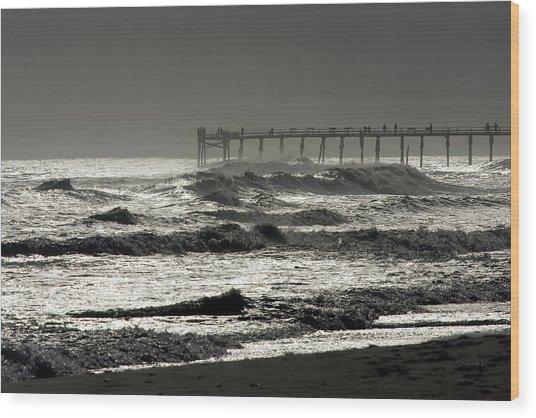 Silver Sea 1 Wood Print by Alan Hausenflock