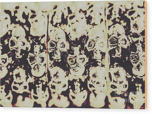 Silver Skull Art Wood Print