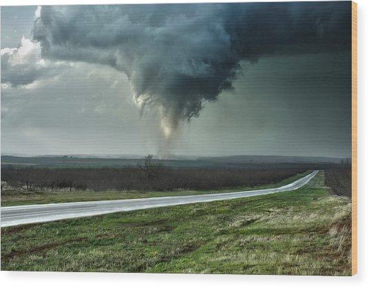 Silverton Texas Tornado 2 Wood Print
