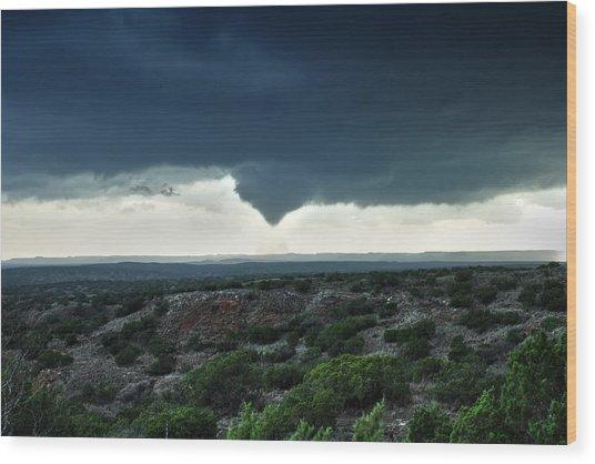 Silverton Texas Tornado Forms Wood Print