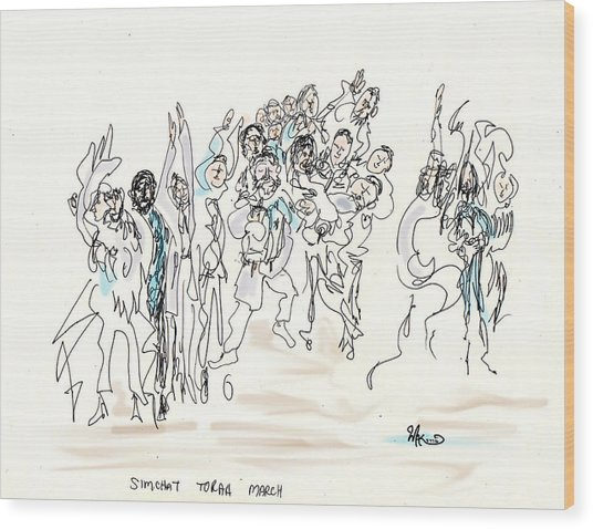 Simchat Torah Wood Print