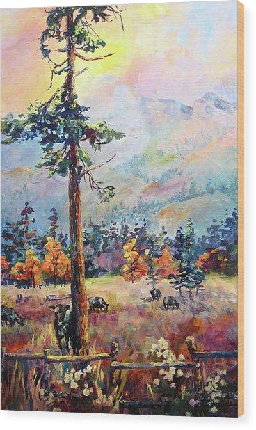 Similkameen Valley Wood Print