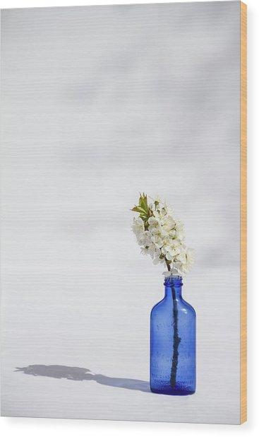 Simple Blue Wood Print