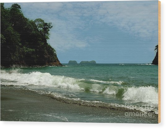 Simple Costa Rica Beach Wood Print