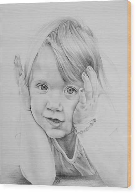 Simple Innocence  Wood Print by Patrick Entenmann