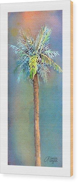 Simple Palm Tree Wood Print