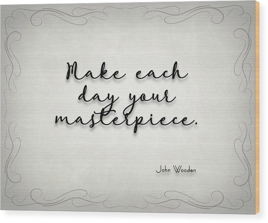 Simple Quote Series Wooden Wood Print