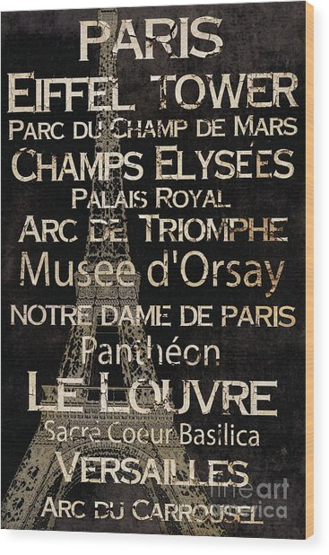 Simple Speak Paris Wood Print