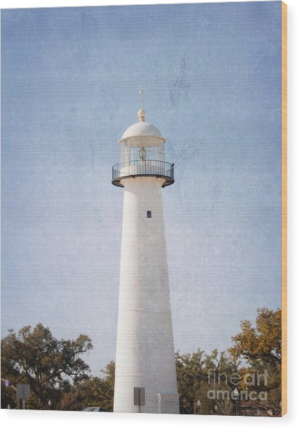 Simply Lighthouse Wood Print