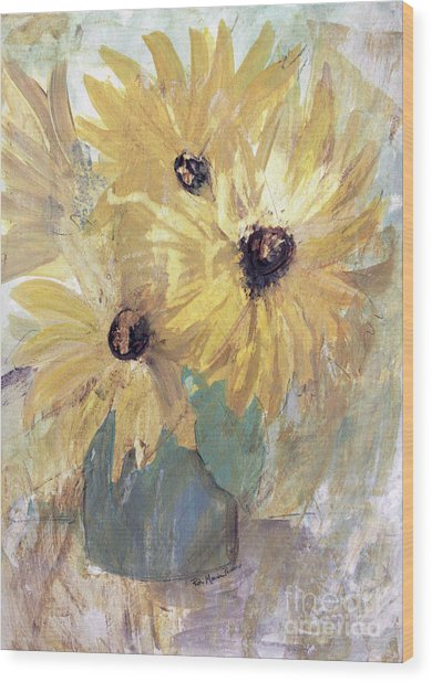 Simply Sunflowers  Wood Print