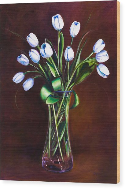 Simply Tulips Wood Print