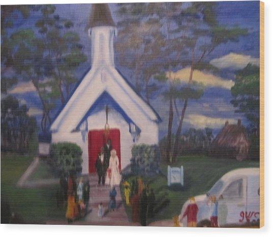 Simpson Christian Community Church Wood Print by Gloria Condon