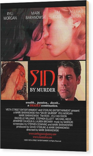 Sin By Murder Poster A Wood Print