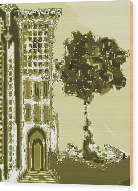 Sinagoga Wood Print by Emna Bonano