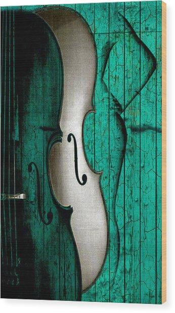 Sinful Violin Wood Print