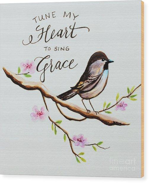 Sing Grace Wood Print