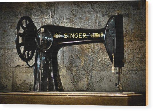 Singer Wood Print