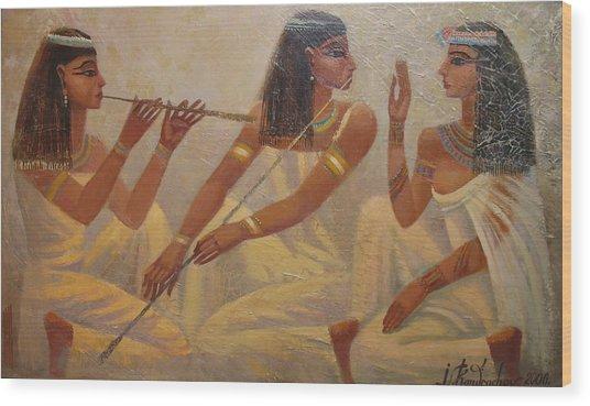 Singers Of Pharaoh Wood Print
