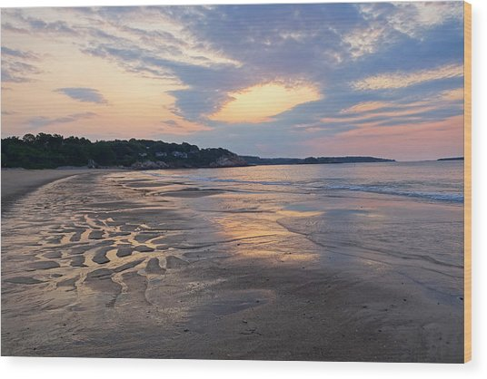 Singing Beach Sandy Beach Manchester By The Sea Ma Sunrise Wood Print