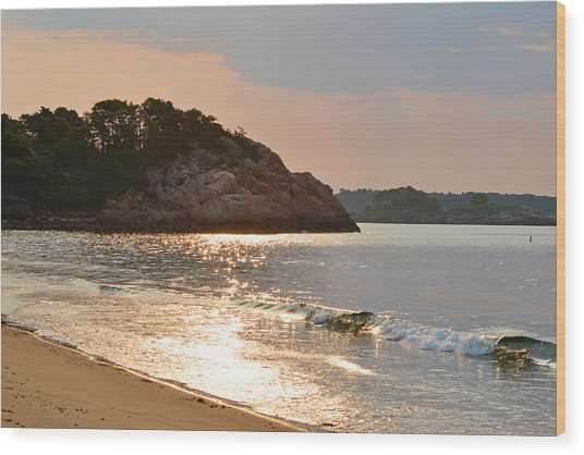 Singing Beach Silver Waves Manchester By The Sea Ma Wood Print