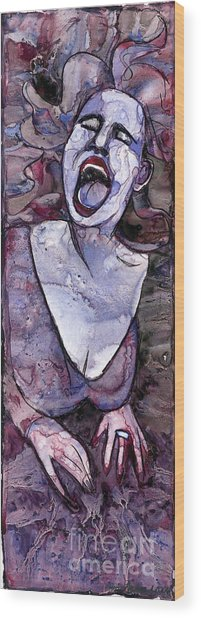 Singing Lady-rock And Roll Wood Print