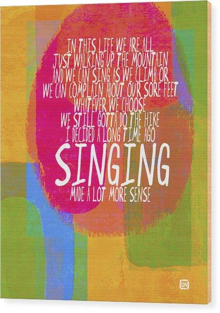 Singing Wood Print