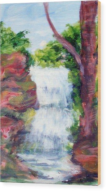 Singing Water Wood Print by Lia  Marsman