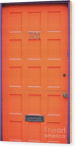 Single Door Wood Print