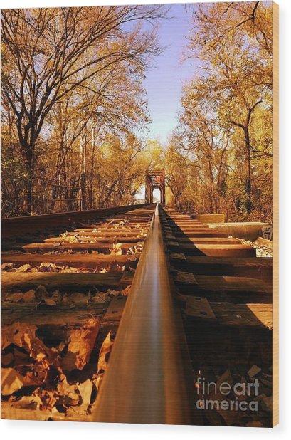 Single Track Mind  Wood Print