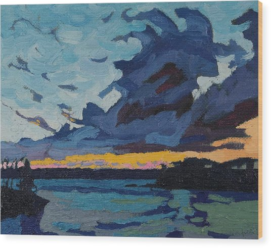 Singleton Sunset Stratocumulus Wood Print