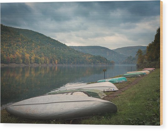 Wood Print featuring the photograph Sinnemahoning State Park by Cindy Lark Hartman