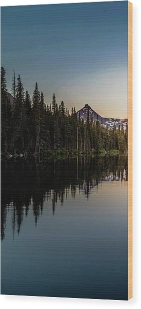 Sinopah Sunrise Triptych 1 Wood Print by Bryan Moore