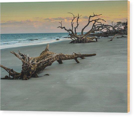 Sunset On Jekyll Island Wood Print