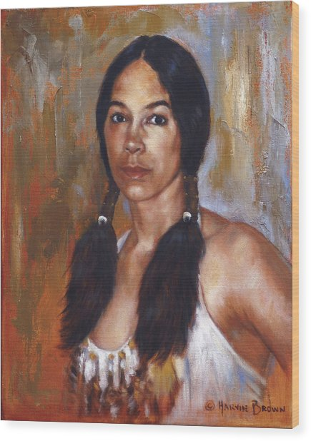 Sioux Woman Wood Print