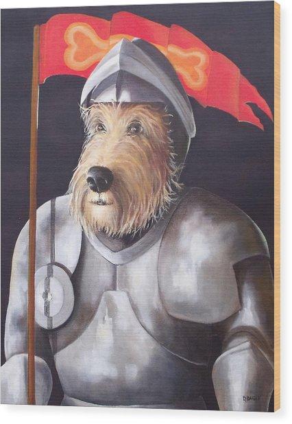 Sir Barksalot Wood Print