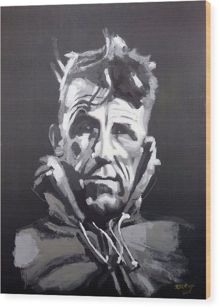 Sir Edmund Hillary Wood Print