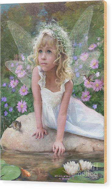 Sissy Fairy Wood Print