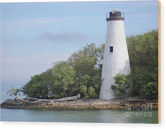 Sister Island Lighthouse Wood Print