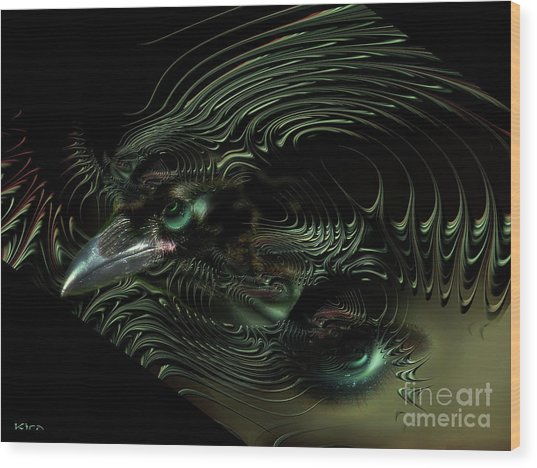 Sister Raven Series - 2 Wood Print