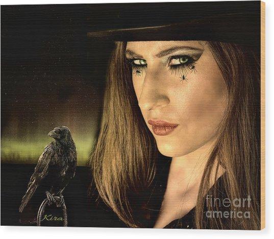 Sister Raven Series - Spider Eyes  Wood Print